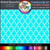 Digital Papers: RAINBOW BRIGHTS - Dotted Quatrefoil - 38 C