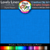 Digital Papers: RAINBOW BRIGHTS - Lovely Linen - 38 Colors