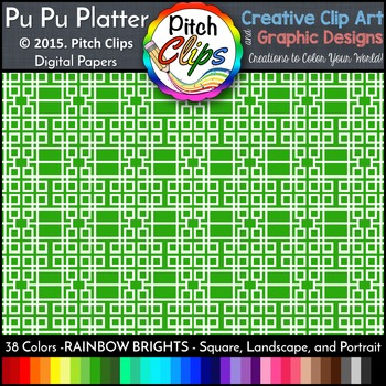 Digital Papers: RAINBOW BRIGHTS - PuPu Platter Geometric - 38 Colors