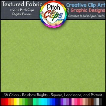 Digital Papers: RAINBOW BRIGHTS - Textured Fabric - 38 Colors