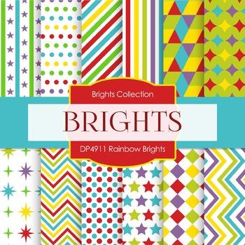 Digital Papers -Rainbow Brights (DP4911)