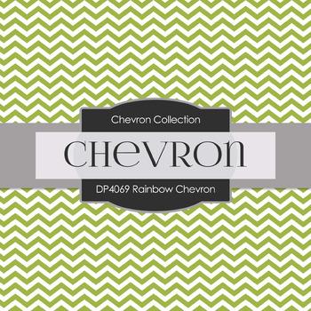Digital Papers - Rainbow  Chevron (DP4069)