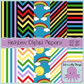 Digital Papers - Rainbow Digital Papers