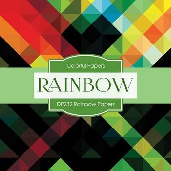 Digital Papers - Rainbow Papers (DP232)