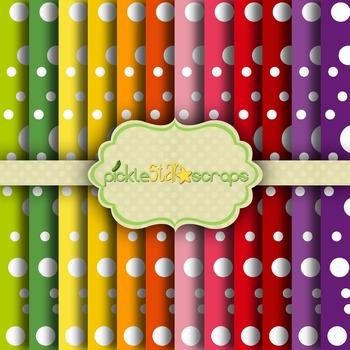 Digital Papers Rainbow Patterns
