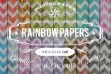 Digital Papers - Rainbow Patterns Bundle Deal