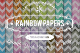 Digital Papers - Rainbow Patterns Bundle Deal