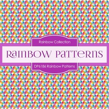 Digital Papers - Rainbow Patterns (DP6186)
