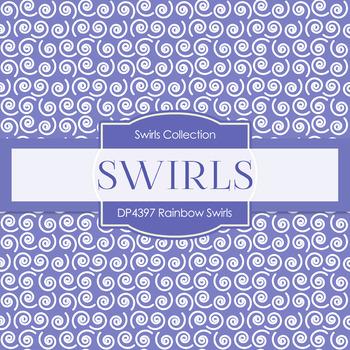 Digital Papers - Rainbow Swirls (DP4397)