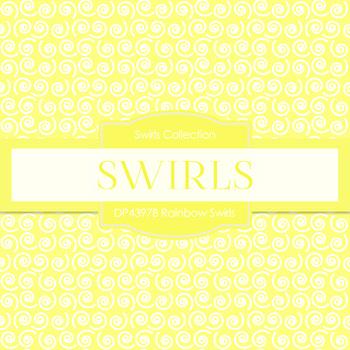 Digital Papers - Rainbow Swirls (DP4397B)