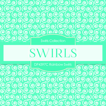 Digital Papers - Rainbow Swirls (DP4397C)
