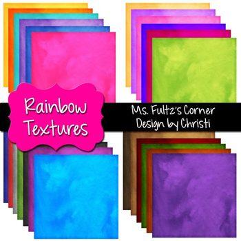 Digital Papers: Rainbow Textures