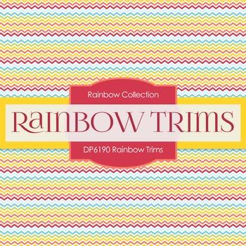 Digital Papers - Rainbow Trims (DP6190)
