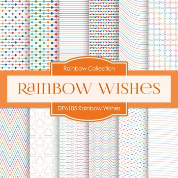 Digital Papers - Rainbow Wishes (DP6185)