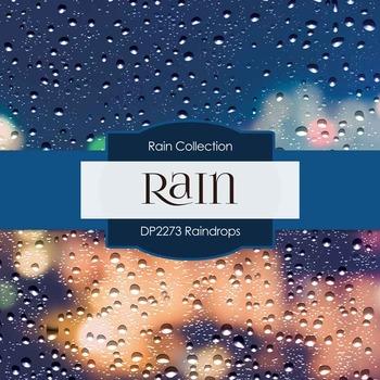 Digital Papers - Raindrops (DP2272)