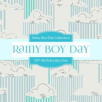 Digital Papers - Rainy Boy Day (DP1182)
