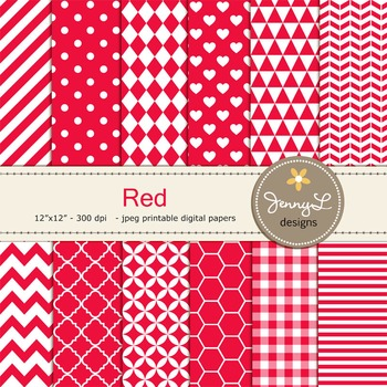 Digital Papers :  Red