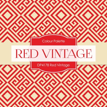 Digital Papers - Red Vintage (DP4178)