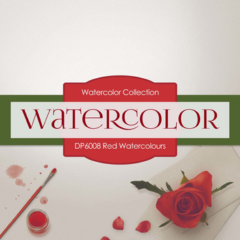 Digital Papers - Red Watercolours (DP6008)