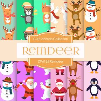 Digital Papers - Reindeer (DP6136)