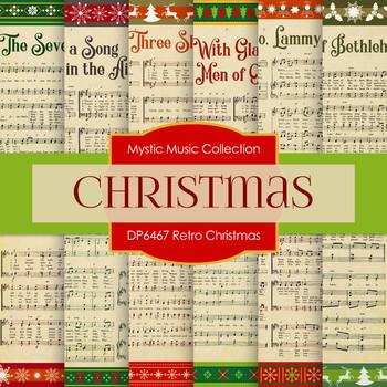 Digital Papers - Retro Christmas (DP6467)