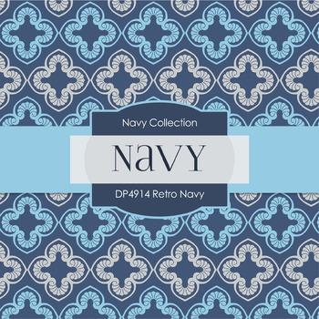 Digital Papers - Retro Navy (DP4914)