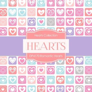 Digital Papers - Romantic Hearts (DP4170)