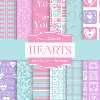 Digital Papers - Romantic Hearts (DP4170)