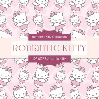 Digital Papers - Romantic Kitty (DP4507)