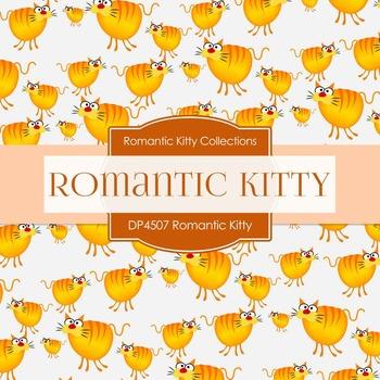 Digital Papers - Romantic Kitty (DP4507)