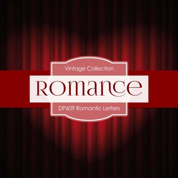 Digital Papers - Romantic Letters (DP609)