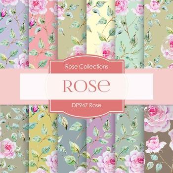 Digital Papers - Rose (DP947)