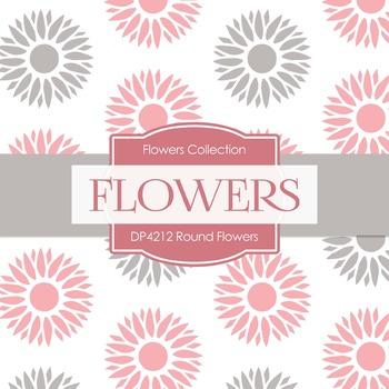 Digital Papers - Round Flowers (DP4212)