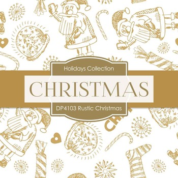 Digital Papers - Rustic Christmas (DP4103)