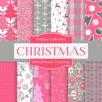 Digital Papers - Rustic Christmas (DP4120)