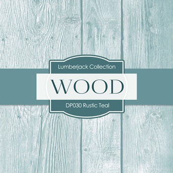 Digital Papers - Rustic Wood Teal (DP030)