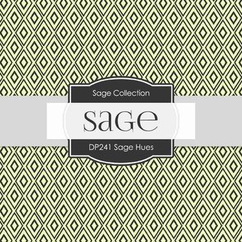 Digital Papers -  Sage Hues (DP241)