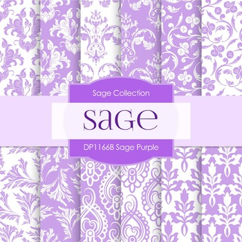 Digital Papers - Sage Purple (DP1166B)