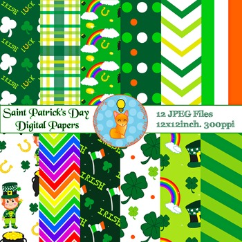 Digital Papers - Saint Patrick's Day