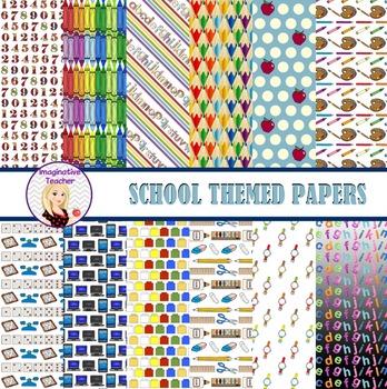 Digital Papers - School theme