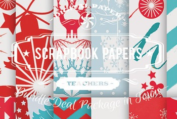 Digital Papers - Scrapbook Patterns Bundle Deal