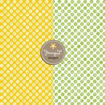 Digital Papers: Scribble CIRCLE in Primary Colors -SET2