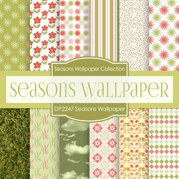 Digital Papers - Seasons Wallpaper (DP2247)