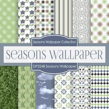 Digital Papers - Seasons Wallpaper (DP2248)