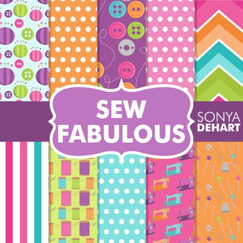 Digital Papers -  Sew Fabulous Sewing Pattern Paper