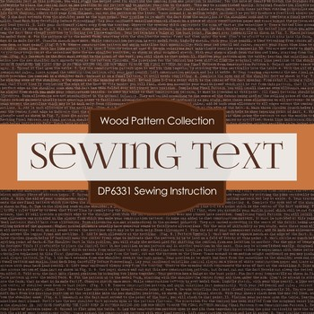 Digital Papers - Sewing Instruction (DP6331)