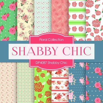 Digital Papers - Shabby Chic (DP4087)