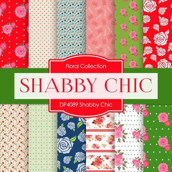Digital Papers - Shabby Chic (DP4089)