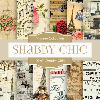 Digital Papers - Shabby Chic  (DP681)