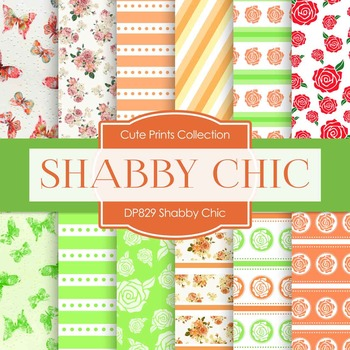 Digital Papers - Shabby Chic (DP829)